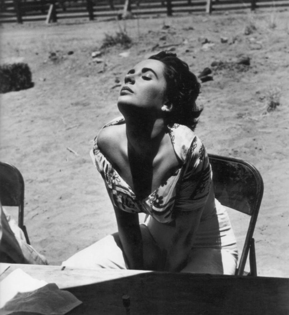 Elizabeth Taylor catches the sun on the Giant set, 1955. Scanned by jane for Dr. Macro's High Quality Movie Scans website: http://www.doctormacro.com. Enjoy!