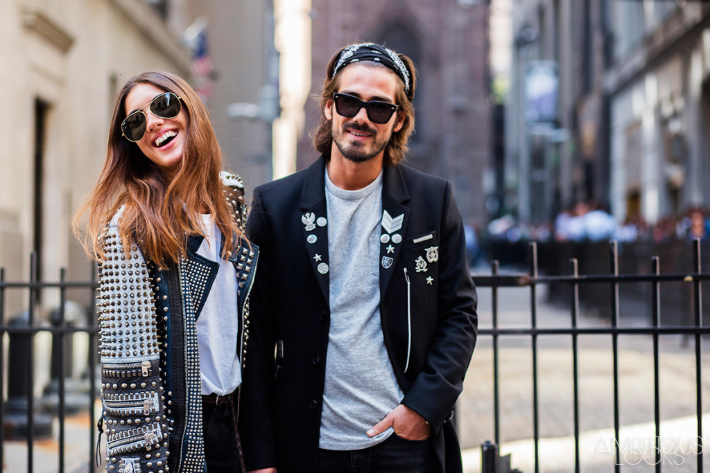 New York Fashion Week SS16 Street Style Diesel Black and Gold